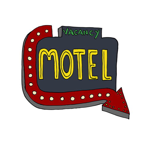 The Motel Sign Illustrations Design - a tad and more