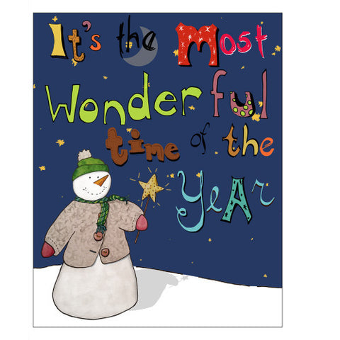 Winter Holiday Card - Bring Joy to the World.