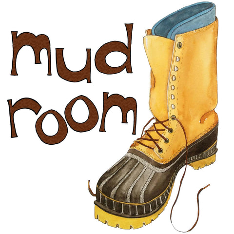 Mud Room - Full Color Illustration - Print - A TAD AND MORE