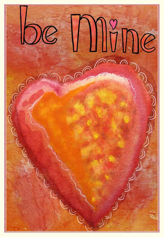 Valentine's Day Card - Be Mine - Blank Notecard - A TAD AND MORE - Cooking Up a Story