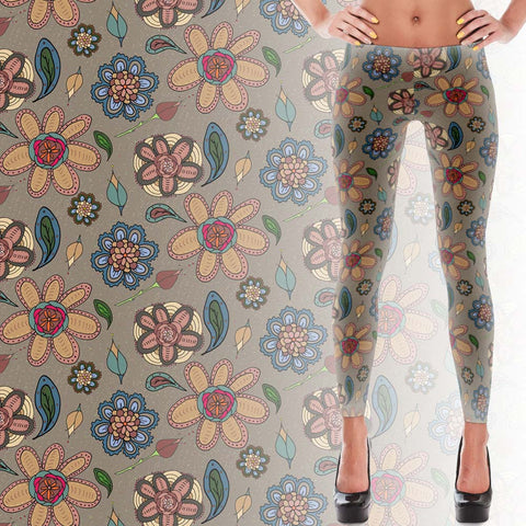 Women's Leggings - Daisies - A TAD AND MORE - Cooking Up a Story