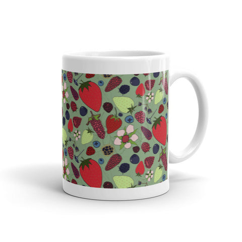 Berries - Ceramic Mugs - Ceramic Mugs - A TAD AND MORE Designs -The Cooking Up a Story product line