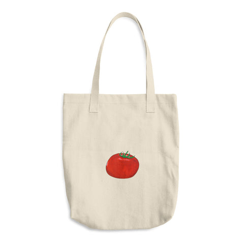 Tomato - Cotton Tote Bags - Tote Bags -A TAD AND MORE Designs - Cooking Up a Story product line