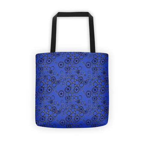 Blue Circles - Tote Bags - Tote Bags - A TAD AND MORE Designs -The Cooking Up a Story product line