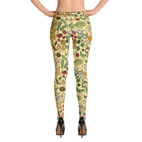 Farm Veggies - All Over Women's Leggings