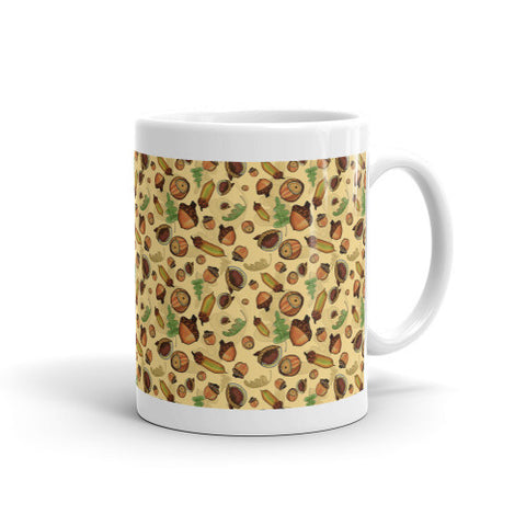 Acorns - Ceramic Mugs - Ceramic Mugs - A TAD AND MORE Designs -The Cooking Up a Story product line