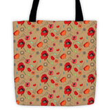 Poppies- Tan - Tote Bags - Tote Bags - A TAD AND MORE Designs -The Cooking Up a Story product line