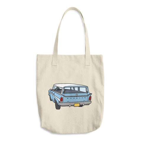 Rambler Station Wagon - Cotton Tote Bags - Tote Bags -A TAD AND MORE Designs - Cooking Up a Story product line