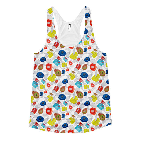 Women's Racerback Tank Tops - Taffy - a tad and more