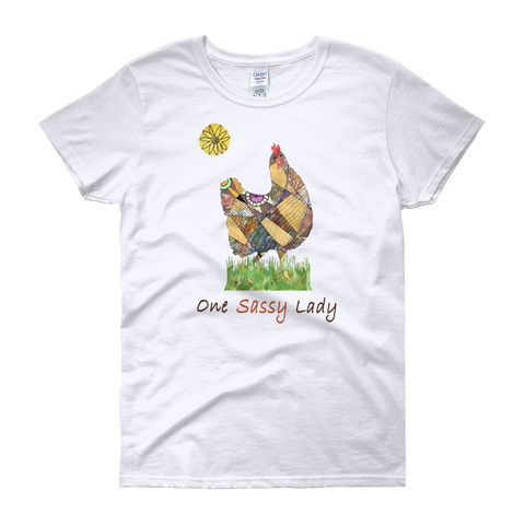 One Sassy Lady - Ladies Scoop Neck T-Shirts