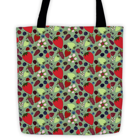 Berries - Tote Bags - Tote Bags - A TAD AND MORE Designs -The Cooking Up a Story product line