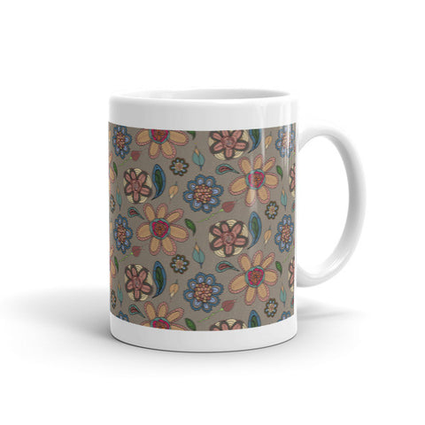 Daisies - Ceramic Mugs - Ceramic Mugs - A TAD AND MORE Designs -The Cooking Up a Story product line