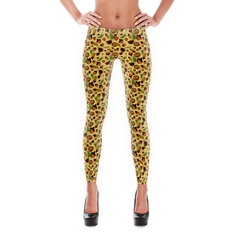 Acorns - Women's Leggings - Leggings - A TAD AND MORE Designs -The Cooking Up a Story product line