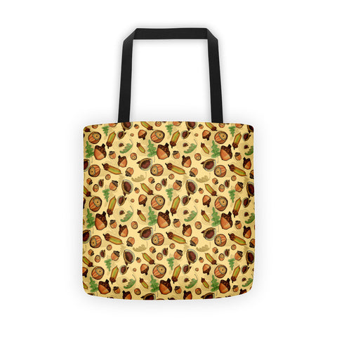 Acorns - Tote Bags - Tote Bags - A TAD AND MORE Designs -The Cooking Up a Story product line