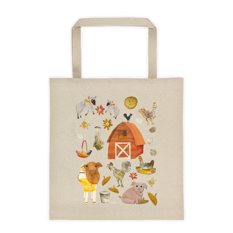 Chickens on the Farm - Tote Bags - Tote Bags - A TAD AND MORE Designs -The Cooking Up a Story product line