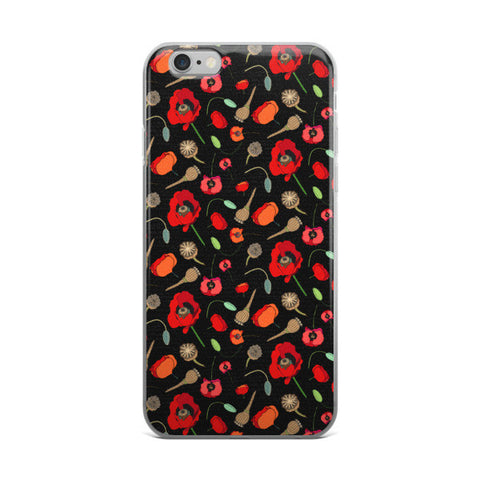 Poppies -Red - iPhone Cases - iPhone Cases - A TAD AND MORE Designs -The Cooking Up a Story product line