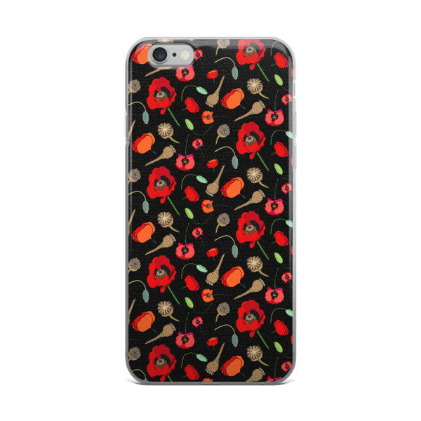 iPhone Cases - Poppies -Red - a tad and more
