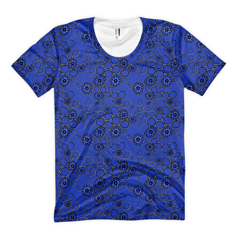 Blue Circles - Women's All-Over Tops - Women's All-Over Tops - A TAD AND MORE Designs -The Cooking Up a Story product line