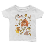 Chickens on the Farm - Infant T-Shirts - Infant T-Shirts - A TAD AND MORE Designs -The Cooking Up a Story product line