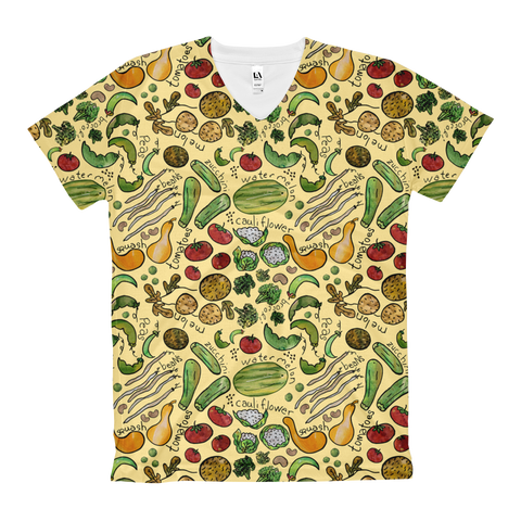 Farm Veggies - Women's All Over Tops - V-Neck