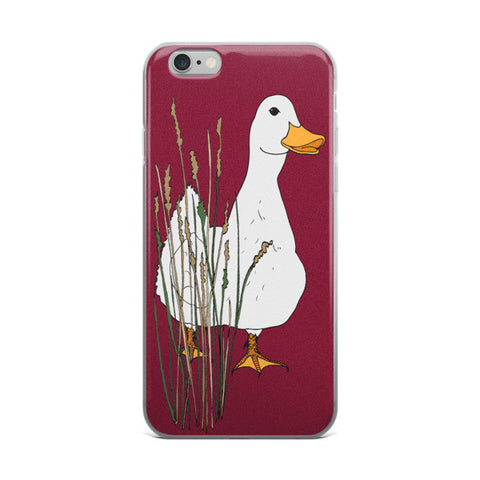 Myrtle Duck- Cranberry - iPhone Cases - iPhone Cases - A TAD AND MORE Designs -The Cooking Up a Story product line
