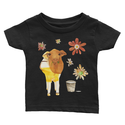 Dairy Cow - Infant T-Shirts - Infant T-Shirts - A TAD AND MORE Designs -The Cooking Up a Story product line