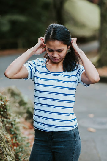 Bellbird Tee - Nautical Stripe. 1101