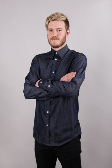 Trev Shirt - Denim - LittleYellowBirdNZ