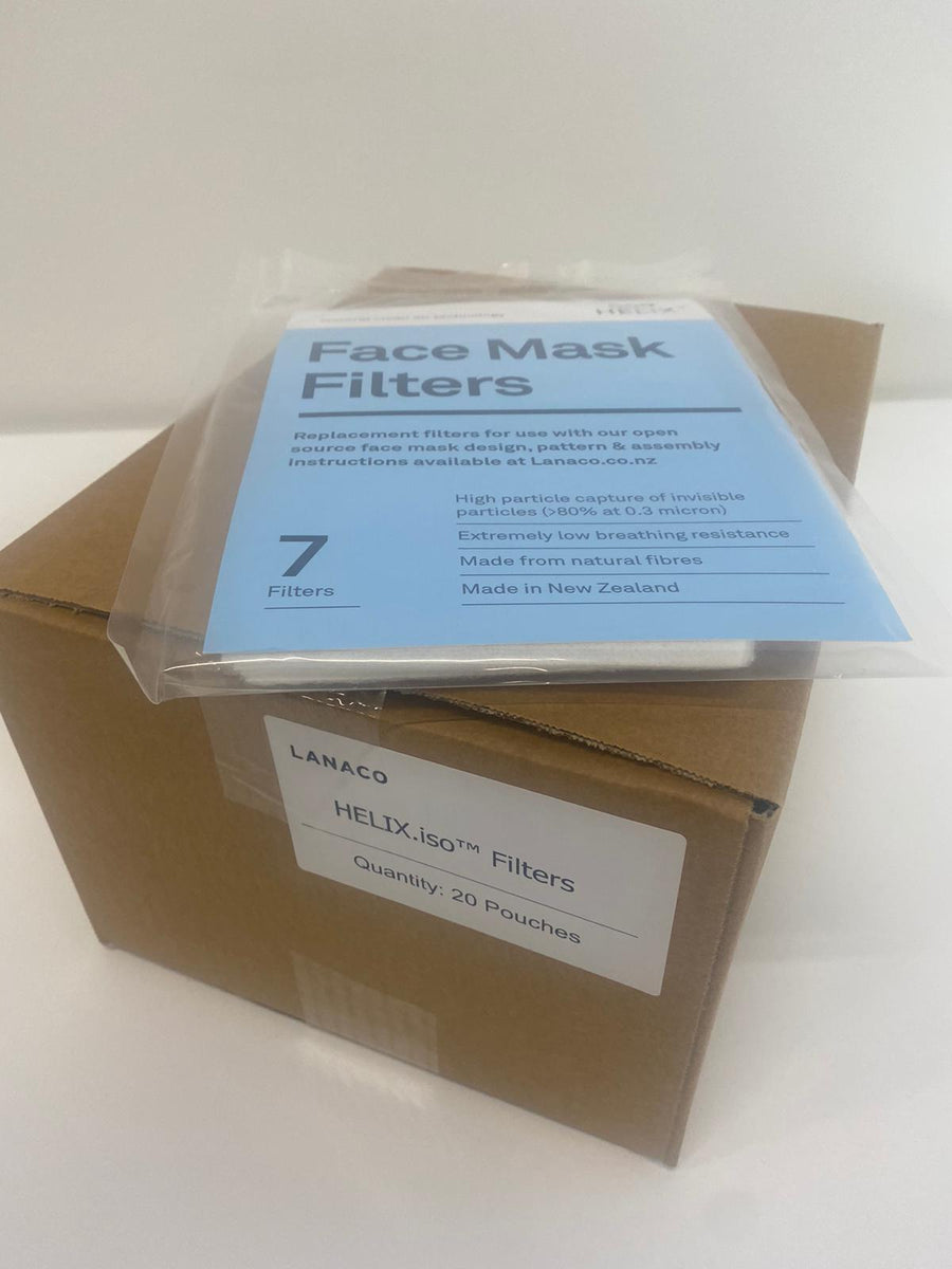 Face Mask Filters - Lanaco HELIX.iso x 20 packs. 9204