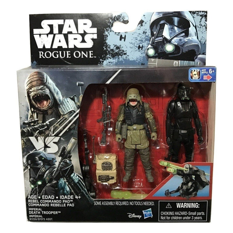 STAR WARS ROGUE ONE REBEL COMMANDO PAO /& IMPERIAL DEATH TROOPER