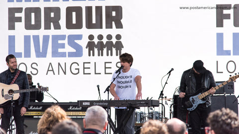 March for Our Lives DTLA 3.24.18. Charlie Puth.