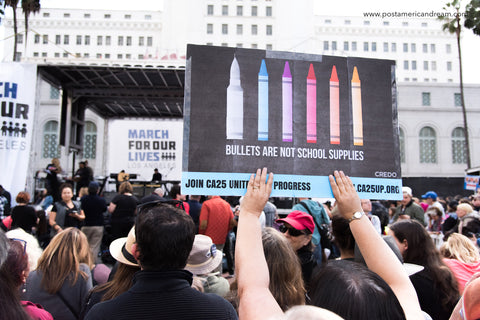 March for Our Lives DTLA 3.24.18. Bullets are not school supplies.