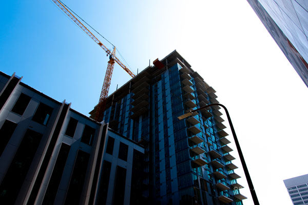 "Limited Edition Photo Print: ""Crane over S. Olive St."""