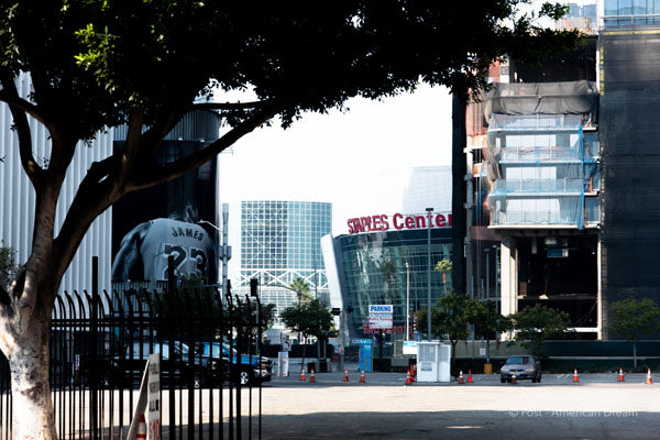 "Limited Edition Photo Print: ""Street View of Staples Center"""