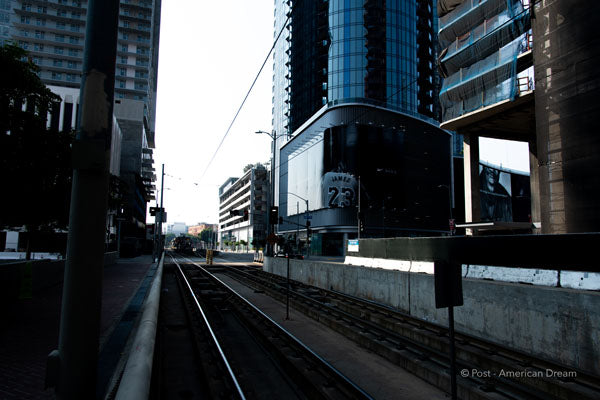 "Limited Edition Photo Print: ""Metro Tracks along Flower St."""
