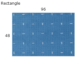 48 X 96 Rectangle  | AntiStatic Chair Mat Clear .125 Vinyl
