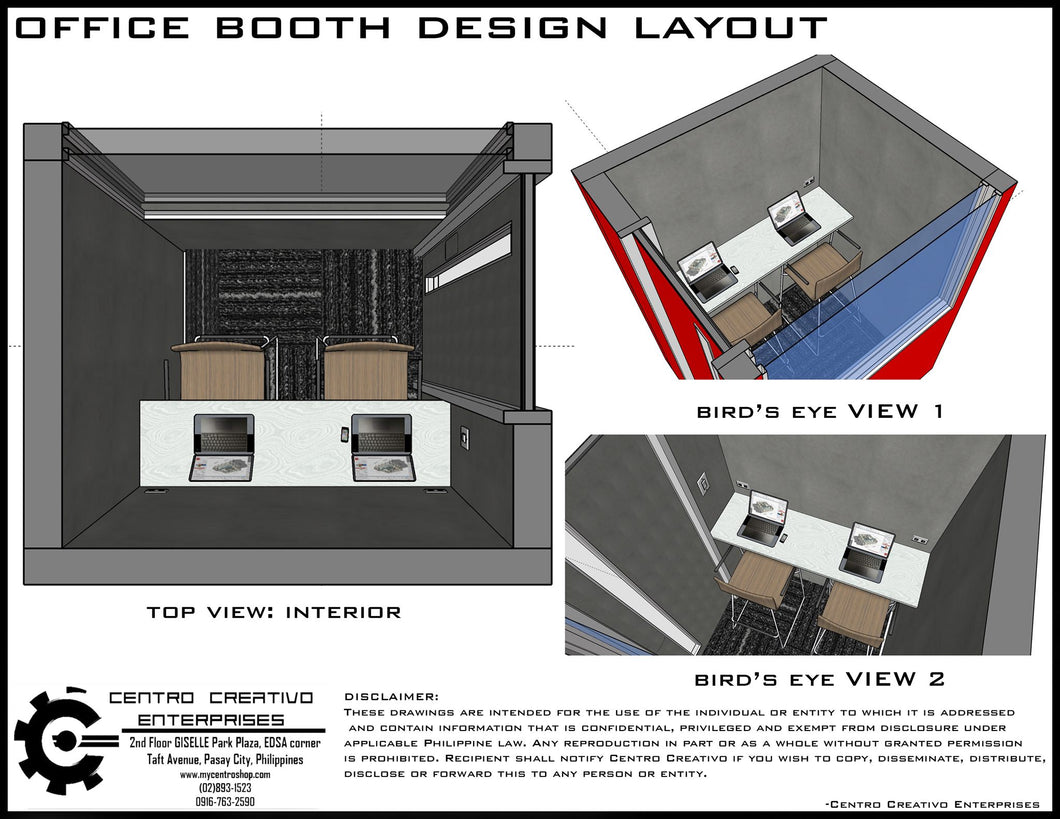 Acoustically Treated Booth