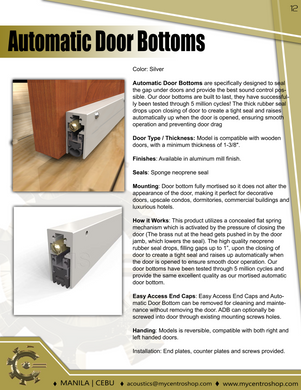 Regular Duty Automatic Door Bottoms