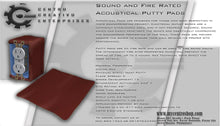Sound and Fire Rated Acoustical Putty Pads-Box of 10