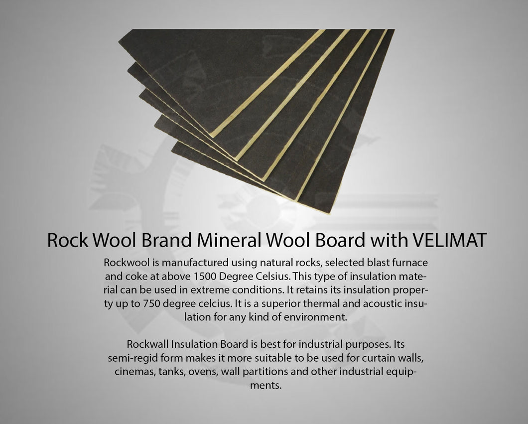 Rock Wool Brand Mineral Wool Board with VELIMAT