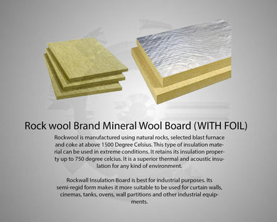 Rock wool Brand Mineral Wool Board (WITH FOIL)