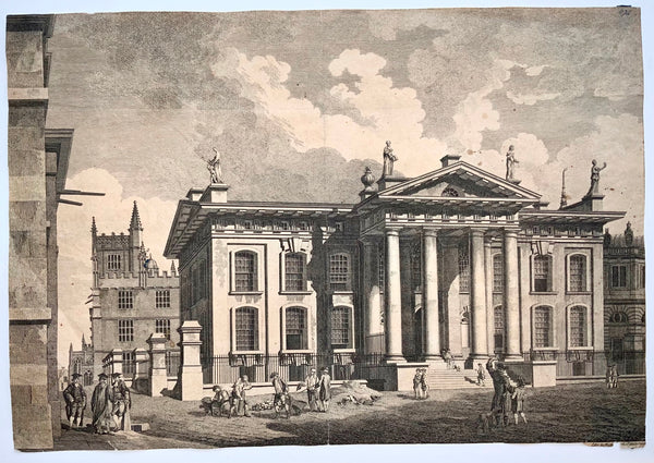 1774 Edward & Michael Rooker - Clarendon Printing House, Oxford 45cm, Broadside Engraving