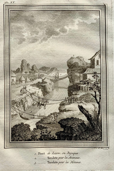 1773 Rope BRIDGES used for transporting good South America