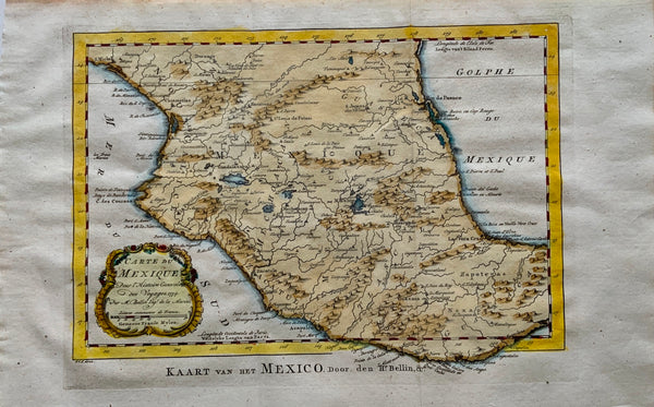 Jacques Nicolas Bellin (1703-1772) - Map of Mexico Acapulco - Travel