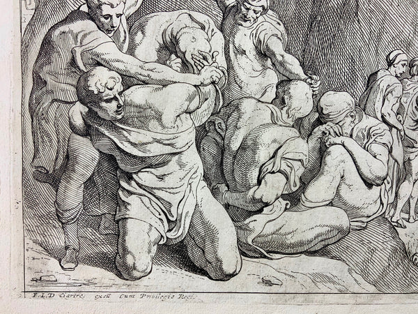 Theodor Van Thulden (1606–1669); Folio 'Greeks boarding after the fall of Troy' - Mythology - Master Engraving