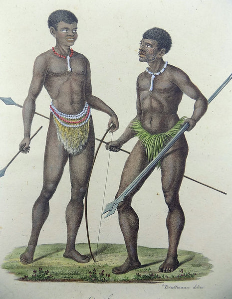 1816 African Natives - Imperial folio 42.5 cm 'incunabula of lithography' - Ethnology