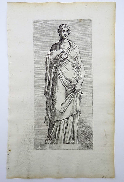 Fr. Perrier le Bourgignon (1590-1650) - Master Engraving - Sabine Woman - Classical Art