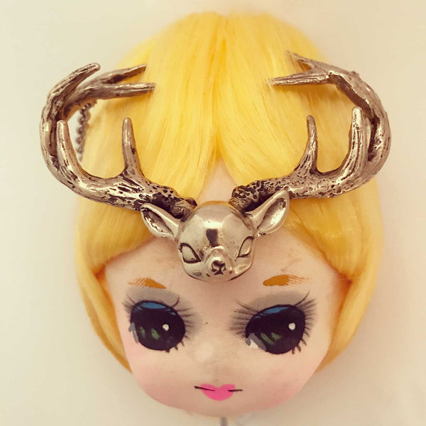 Antlered Deer Necklace