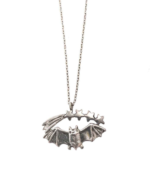 Bat and Shooting Stars Necklace
