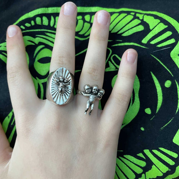 Three Headed Baby Ring